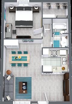 Palm Shore Apartments Seaside Floor Plan