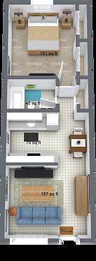 Palm Shore Apartments Seawall Floor Plan