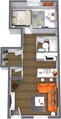 Ventura Flats FP - 1. Floor - 3D Floor P