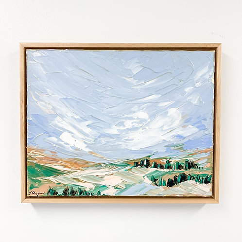 """11x14"""" Field and Valley Study (Framed) - No.1"""
