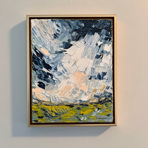 "11 x 14"" Moody Blue Sky, No.1 - Framed"