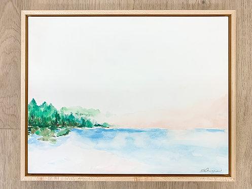 "11x14"" Watercolor Landscape (Framed) - No.2"