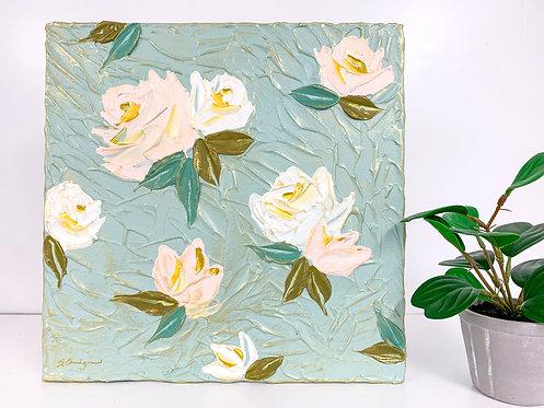 "12x12"" Spring Florals - Mint/Blush No.1"