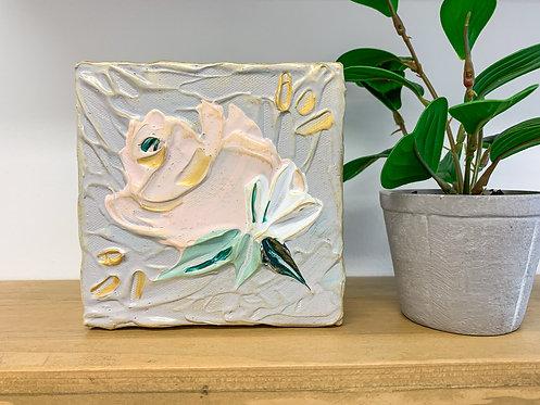 "5x5"" Spring Florals - Gray/Blush"