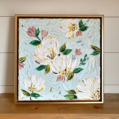 """12 x 12"""" Spring Floral study, no.3 - Framed"""