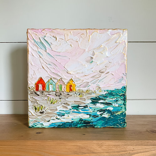 """8x8"""" - Seaside Collection No.7 - Beach Huts"""