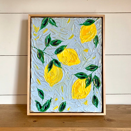 "9 x 12"" Lemon Branch study, no.2 - Framed"