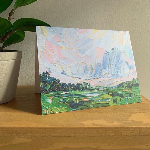 """5.5 x 4"""" SPRING LANDSCAPE CARDS - Set of 5"""