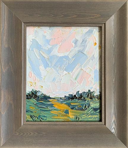 """8x10"""" June Landscape, No.4 Framed"""