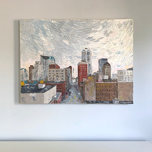 "30x40"" - Indianapolis Colorful View"