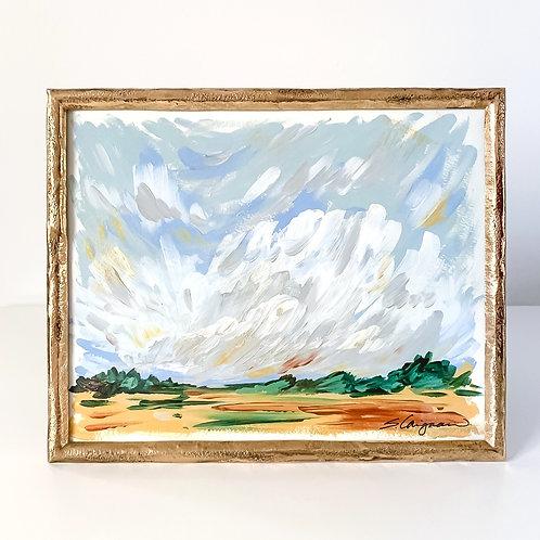 "8x10"" PERI BLUE LANDSCAPE - No.8 (framed)"