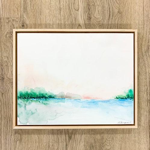"11x14"" Watercolor Landscape (Framed) - No.1"
