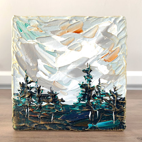 """6x6"""" - Wooded Landscape No.4"""