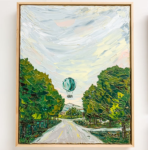"""16x20"""" 1859 Iconic Balloon Voyage - Green Ver.2 (Framed)"""