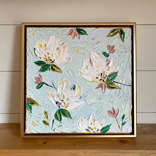 """12 x 12"""" Spring Floral study, no.2 - Framed"""
