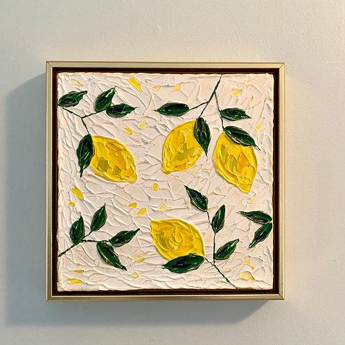 """12 x 12"""" Lemons / Study No.3 - Framed"""