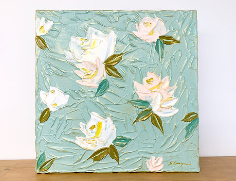 "12x12"" Spring Florals - Mint/Blush No.2"