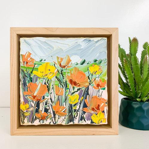 """6x6"""" Garden Collection, No.5 (Framed)"""