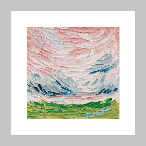 """""""Pink sky, clouds"""" - Print+Mat"""