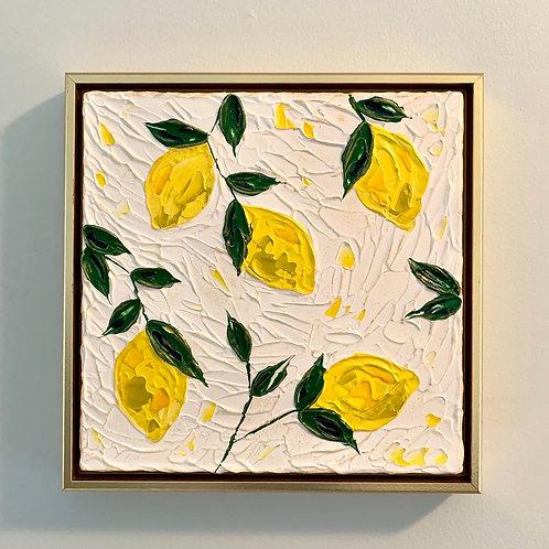 """12 x 12"""" Lemons / Study No.4 - Framed"""
