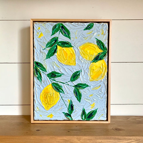 "9 x 12"" Lemon Branch study, no.1 - Framed"