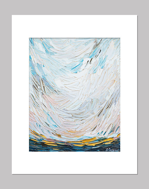 """Ocean View Landscape"" - Print+Mat"