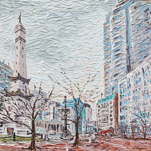 """Monument Circle, Indianapolis"""