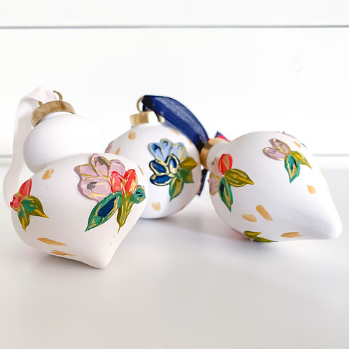 Floral Ornament - Set of 3