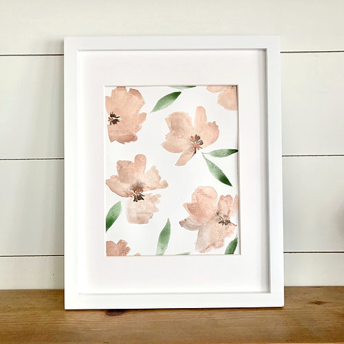 "Blush/Rose Gold Florals + Mat (8x10"")"