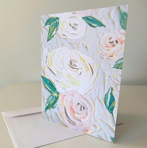 "5.5 x 4"" SPRING FLORALS, BLUSH CARDS - Set of 5"
