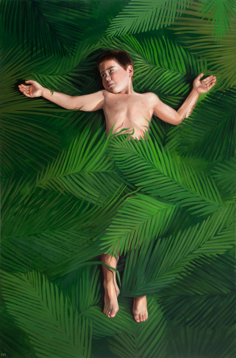 """Hosanna,"" Oil on Canvas, 48x72"" 2018"