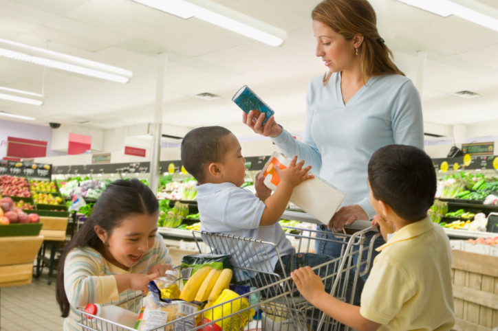 Mom and Kids in Grocery Store.jpg