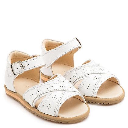 sandalia clara blanca