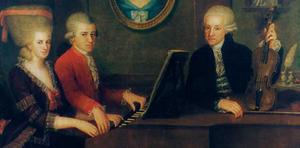 Wolfgang Amadeus Mozart con Franz Anton Mesmer