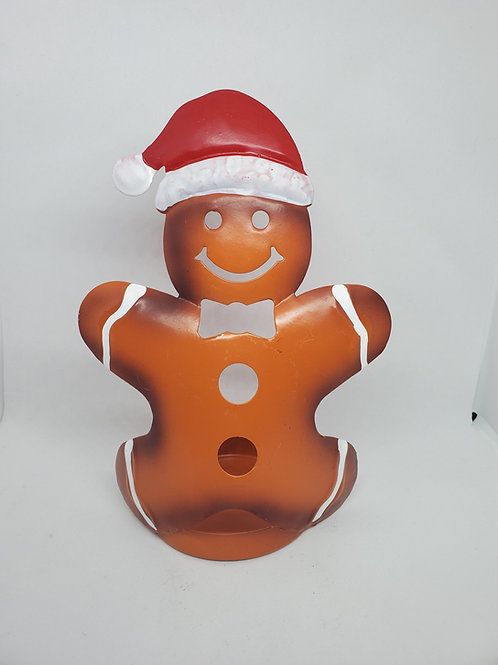 Gingerbread Man Tealight Set