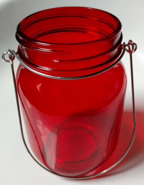 Choose Your Favorite Color And Scent Combination To Fill This Red Glass  Container. The Container Measures 4 And 3/4 Inches Tall.
