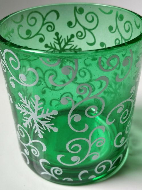 Green Swirl Container