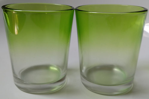 Green Faded Votive Set