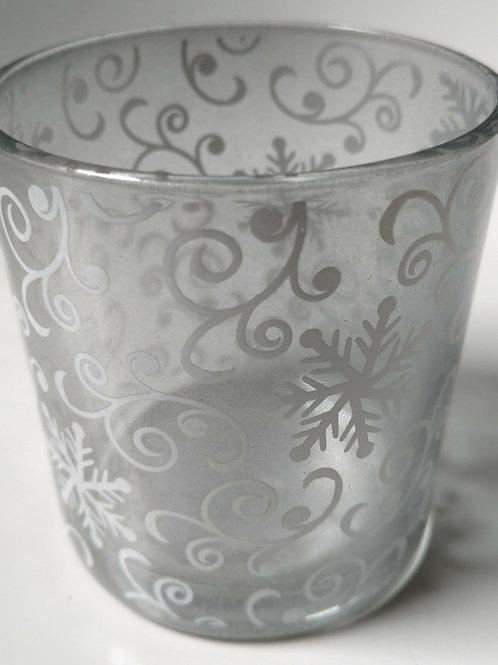 Silver Swirl Container