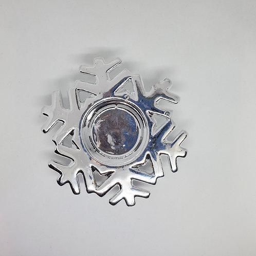 Silver Snowflake Tealight Holder