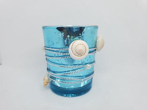 Blue Seashell Votive