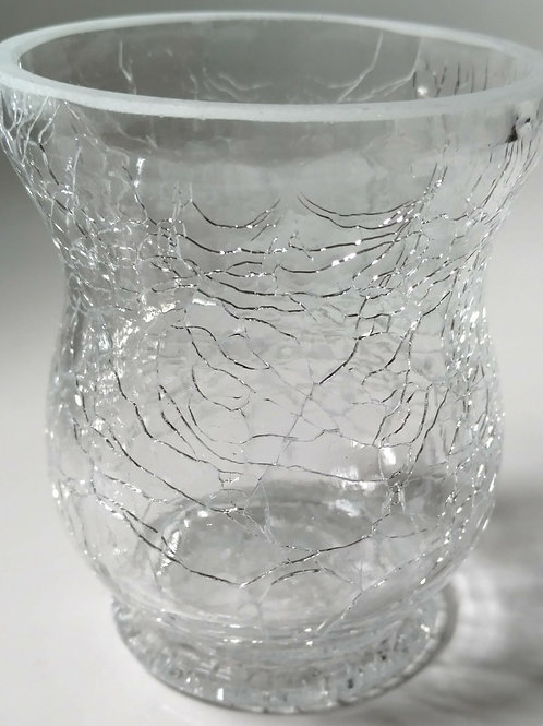 Clear Shattered Glass Container