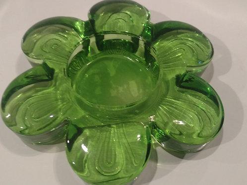 Green Flower Tealight Holder