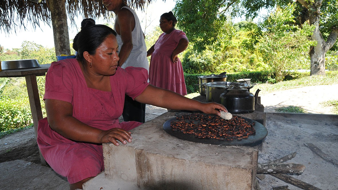 cacao roasting