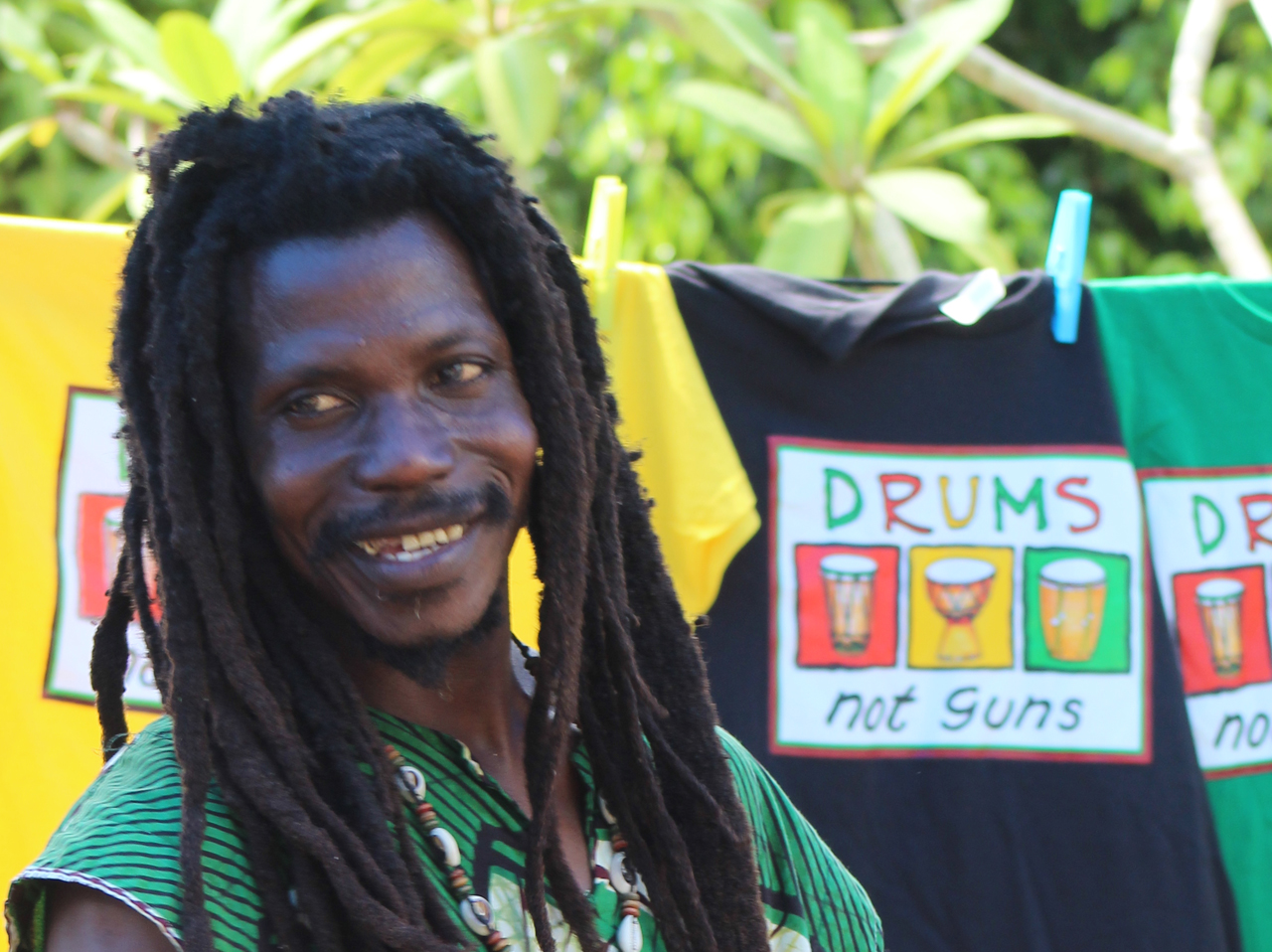 drums not guns