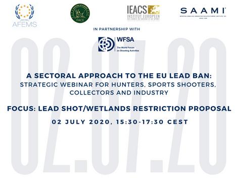Piombo nelle zone umide: Webinar sulla proposta ECHA di restrizione