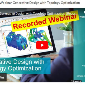 Webinar Generative Design with Topology Optimization was successfully held