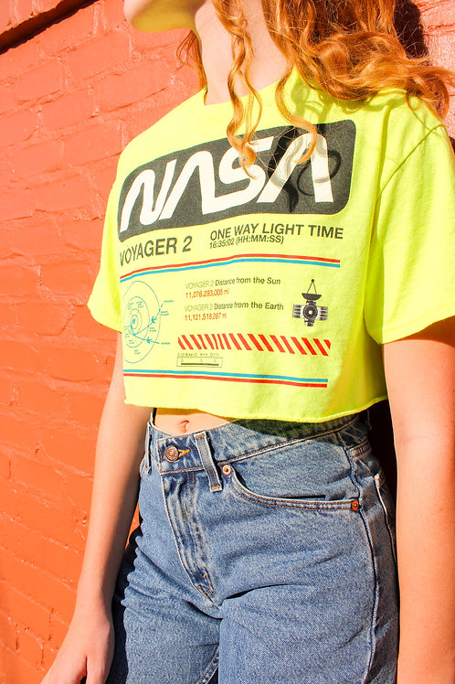 """NASA"" Cropped Graphic Tee"