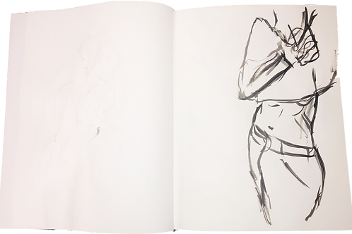 """""""In Bathroom Mirror"""" Sketch"""