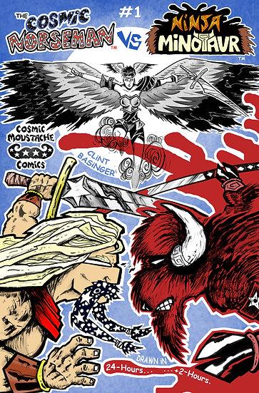 The Cosmic Norseman Vs Ninja Minotaur #1